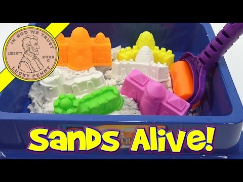 Let's Learn About Sands Alive! - A Play Set With 4 Castle Molds