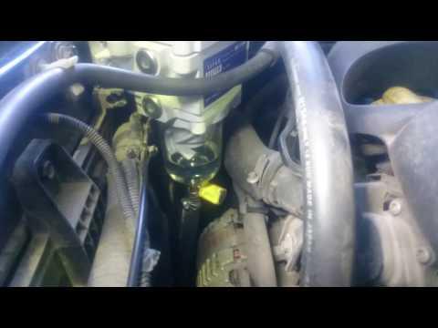 Установка фильтра сепаратора дизельного топлива Separ 2000 5, Nissan X Trail