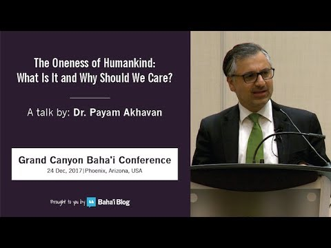 """The Oneness of Humankind: What is it and Why Should We Care?"" a Talk by Payam Akhavan"