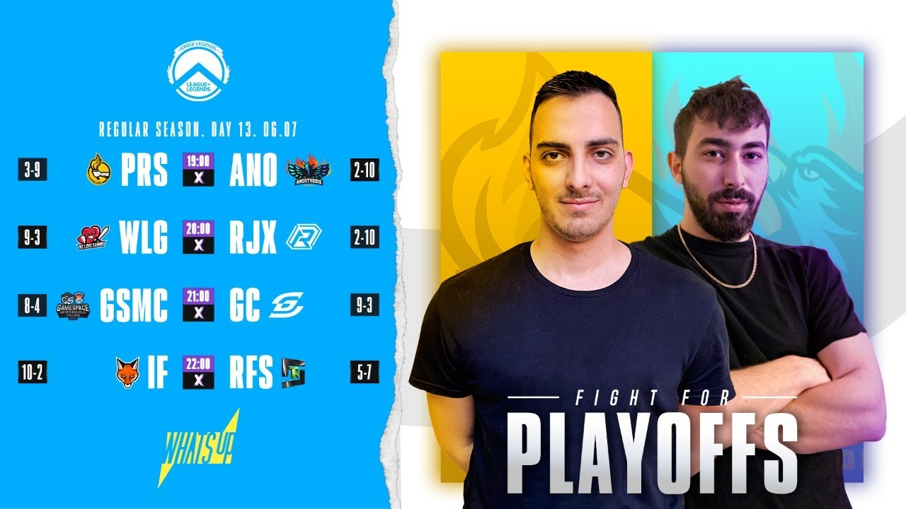 Greek Legends League Summer Split 2020 powered by What's Up | Regular Season | Day 13