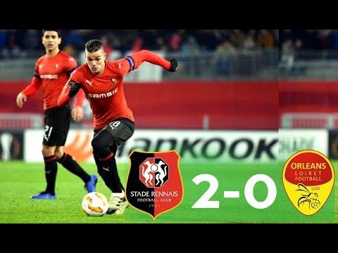 Rennes 2-0 Orléans | Tous Les Buts du Match & Résumé |HD