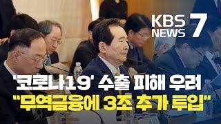 """수출 회복 '복병' 코로나19…""""무역금융에 3조 추가 …"""