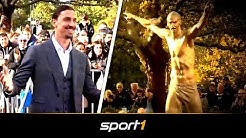 Zlatan in Gold! Ibrahimovic steht auf seine Statue | SPORT1