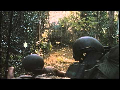 11th Armored Cavalry Regiment Of The US Army In Cambodia. HD Stock Footage