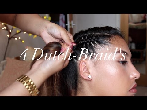 4 Dutch Braid Tutorial 2018