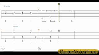 Spongebob Squarepants - Theme Acoustic Guitar Tab HD