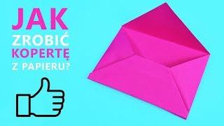 Jak zrobić kopertę z papieru - Papierowa koperta   DIY💌 How to make envelope