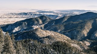 Solo Hiking Cheyenne Mountain Top of the Mountain Trail  9,570ft  Colorado Springs Winter Summits