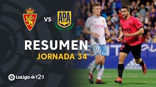 Resumen de Real Zaragoza vs AD Alcorcón (0-2)