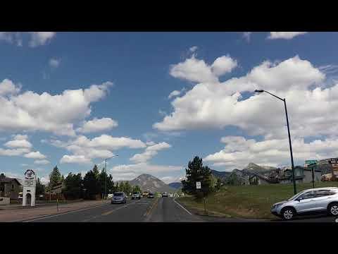 Driving into Estes Park, Colorado