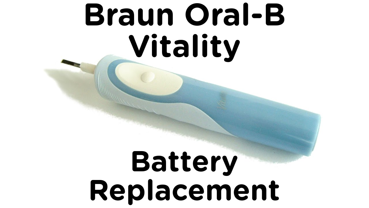 Step 3: Oral B Vitality - Replacing the Battery and Reassembly. The battery in this model is the same size as a standard AA cell (50mm long x 14mm diameter.) so you have a wide choice of replacement cells.