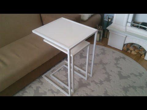 Столик приставной деревянный к дивану сделать самому