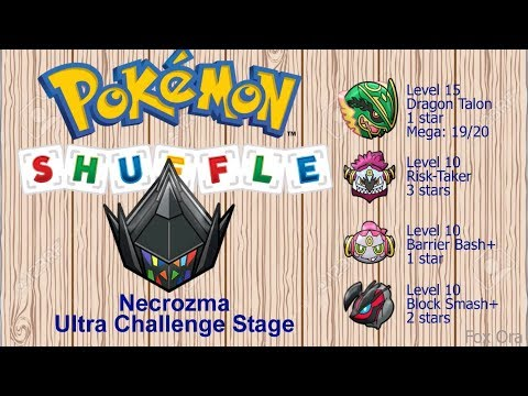 Pokemon Shuffle - Defeat And Catch Necrozma (+ Test Stage) - Ultra Challenge Stage