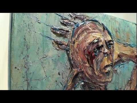 Original modern expressionist oil painting on canvas by David P. Realism art