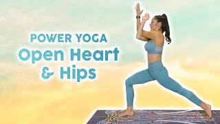 Power Yoga Sweat | 30 Min Workout, Flexibility, Weight Loss, Open Heart & Hips, Intermediate Level