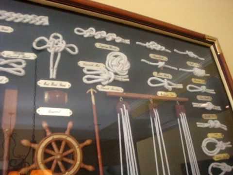 Grand Knot Board Nautical Decor in Billards Room