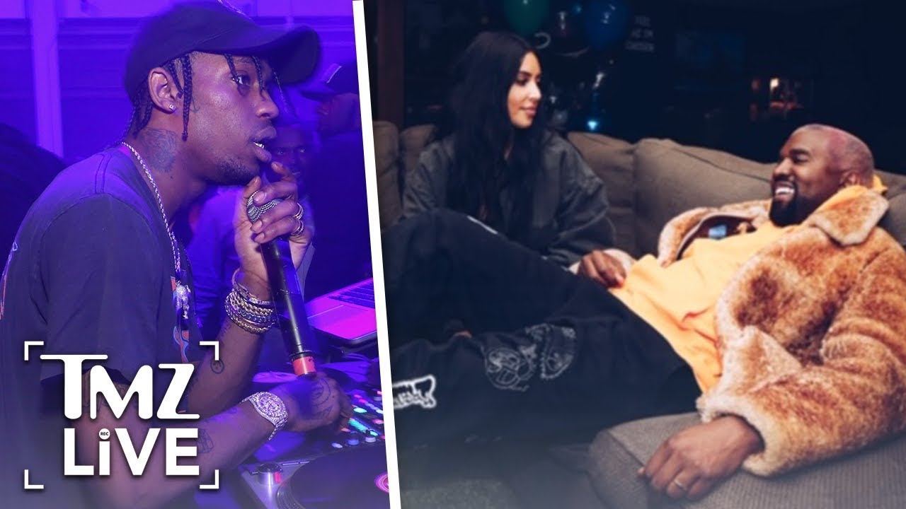Kanye Goes To Travis Scott Show To Support Him After Feud | TMZ Live