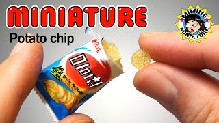 [ENG] 미니어쳐 리얼감자! 미미칩 만들기 (넘나 맛난것) Miniature - Real Potato chips (mimi chips) /미미네미니어쳐 ミミネミニチュア
