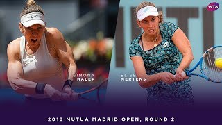 Simona Halep vs. Elise Mertens | 2018 Mutua Madrid Open Second Round | WTA Highlights