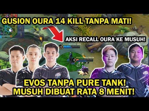EVOS TANPA PURE TANK! GUSION OURA 14 KILL TANPA MATI! MUSUH RATA 8 MENIT!