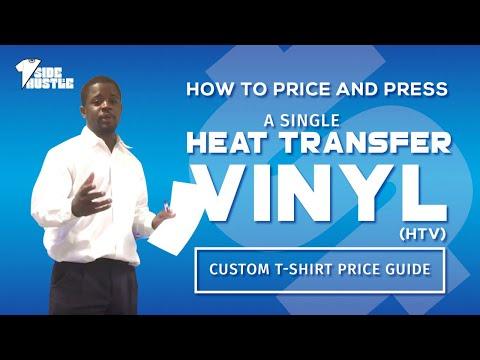 How To Price A Single Heat Transfer Vinyl HTV T Shirt Custom TShirt Price Guide