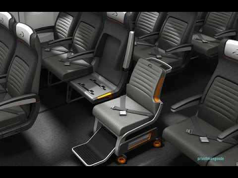 This airplane seat is designed for passengers with special needs
