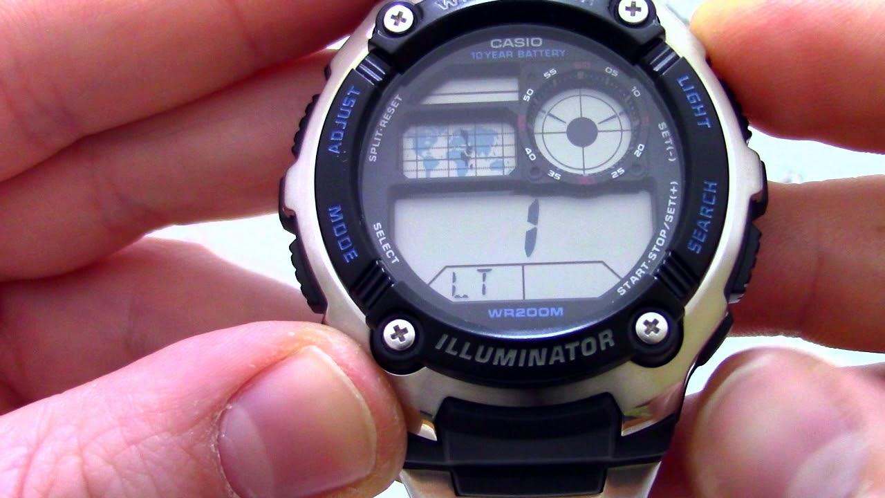 Как настроить часы casio quartz