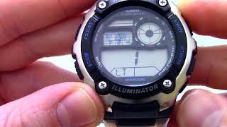 Годинник Casio Illuminator AE-2100WD-1A - Інструкція, як налаштувати від PresidentWatches.Ru