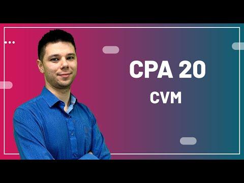 CPA 20 - Aula 04 - CVM Comissão de Valores Mobiliários