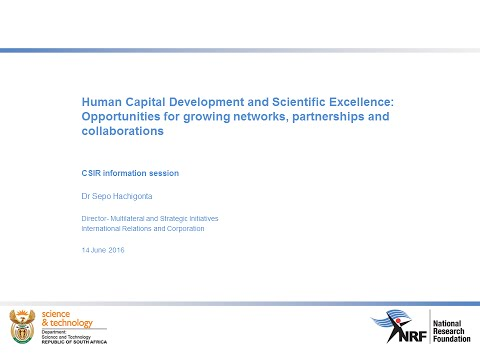NRF FUNDING OPPORTUNITIES - A CSIR Information Session 5