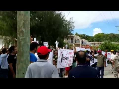 Australia washes hands of refugees on Nauru as protesters clash with locals