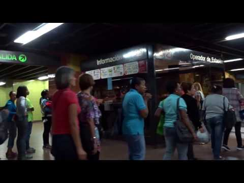Ticket purchase and metro ride in Caracas, Venezuela