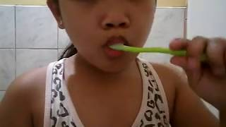 Face washing and tooth brushing
