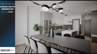 Mẫu thiết kế nội thất trong căn hộ rộng 100m2 tại dự án Saigon South Residences