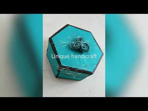 Hexagon explosion box / hexagonal love note ( by unique handicraft)