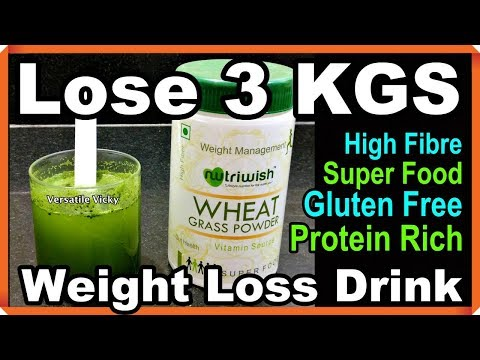 Get Flat Belly in 7 Days without Diet or Exercise | Wheatgrass For Weight Loss