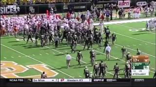 Texas-Baylor College Football Fight