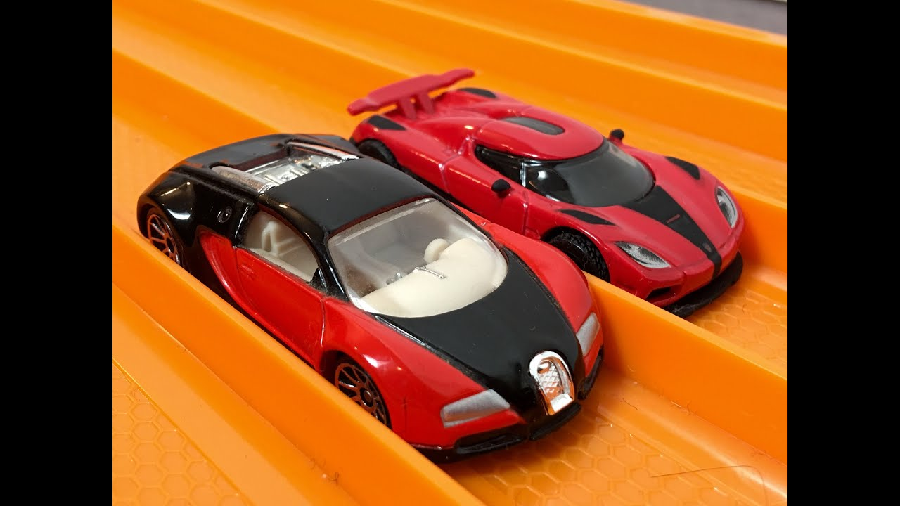 race bugatti veyron vs koenigsegg agera r hot wheels youtube. Black Bedroom Furniture Sets. Home Design Ideas