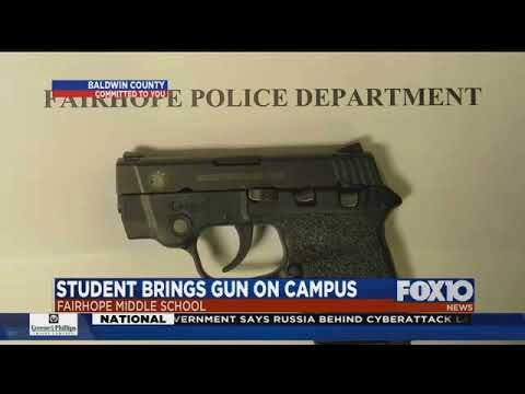 Fairhope Middle School student brings gun to campus