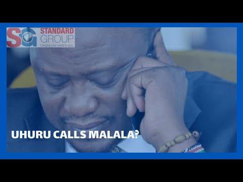 President Uhuru's alleged phone call to Senator Malala over recent demonstrations in Kakamega.