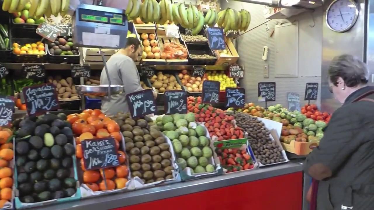 Fruit Vegetables Market Mercado Central Atarazanas Malaga Spain