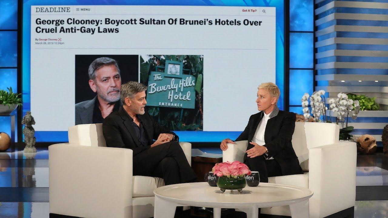 George Clooney Talks Influencing Laws in Brunei, Praises Amal's  Humanitarian Work