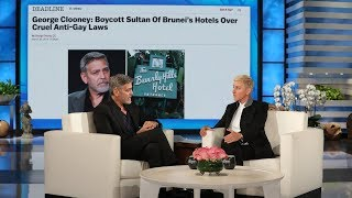 George Clooney Talks Influencing Laws in Brunei, Praises Amal's Humanitarian Work