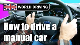 How to drive a maฑual car for beginners - keeping it simple