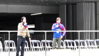 「FC東京キックオフ」イベントでのゆってぃとジョナサンの前説.
