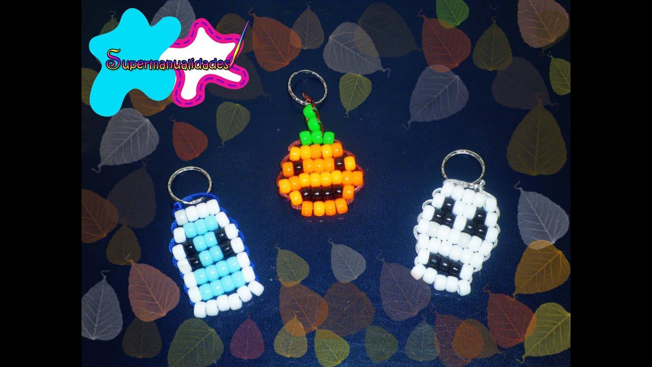 Llaveros de halloween calaverita calabaza y fantasmita - Calabazas de halloween manualidades ...