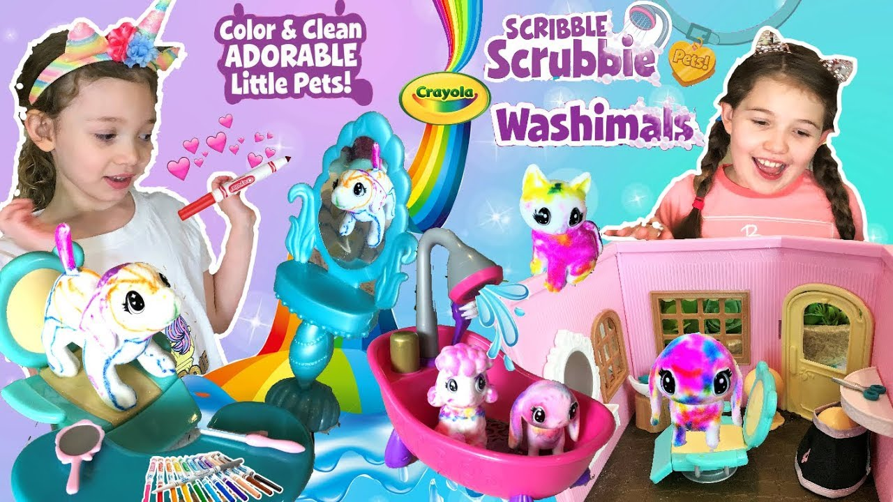 Pets you can colour Crayola Washimals Playset rinse wash and colour again!