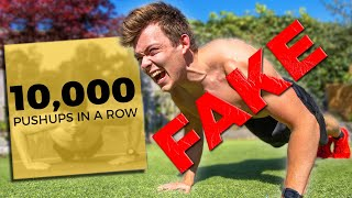 Why The 10,000 Push ups in a Row World Record is (probably) Fake