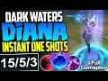 *NEW SKIN* DARK WATERS DIANA IS TOO STRONG | INSTANT ONE SHOTS | Diana TOP Build S8 PBE Gameplay