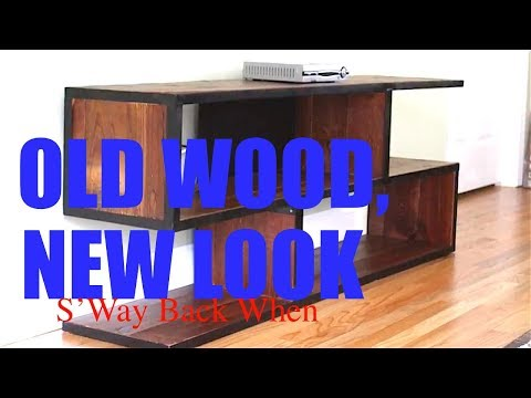 Reclaimed Wood & Steel Entertainment Console | S'way Back When